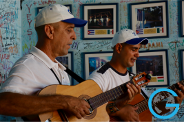 Guitars Fill the Room in Trinidad, Cuba